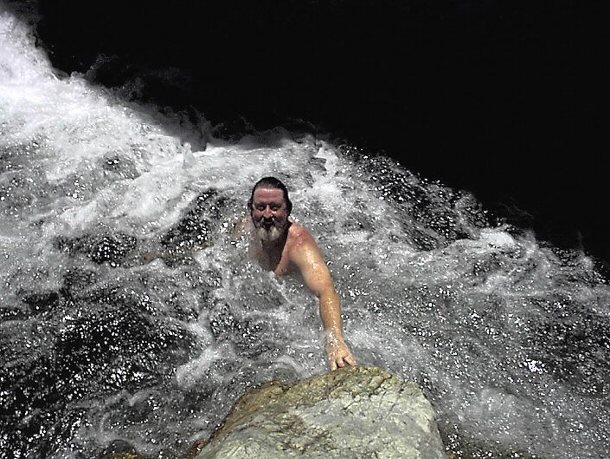 Mountain Man Bob Swimming