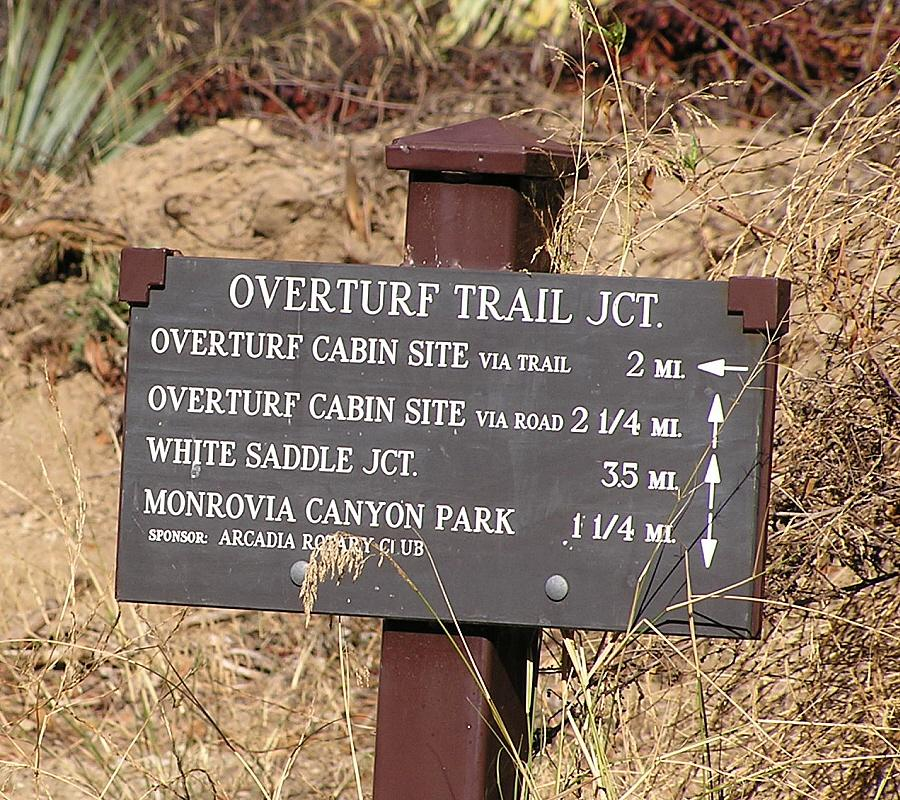 Overturff Trailhead Marker - November 5, 2008